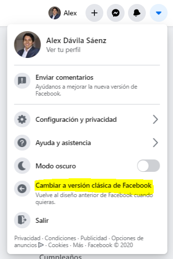cambiar diseño facebook