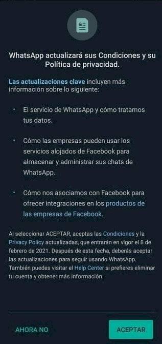 politica de whatsapp